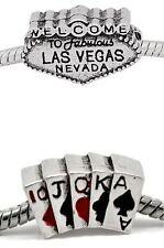 "2 Pc. ""Las Vegas"" Themed Charms for Snake Chain Charm Bracelets"