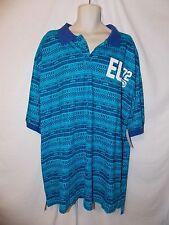 mens ecko unltd EU polo shirt 3XB nwt blue hawaiian ocean rhino tribal