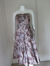 COAST Dress Strapless Xanthia Rose 50s Party Wedding Evening Size 8