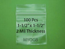 "100pcs 1-1/2"" x 1-1/2"" Zip Lock Plastic Bags-Storage-Jewerly-Part s-Gold Nuggets"