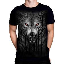 Spiral Direct - FOREST WOLF - Mens  T-Shirt / Goth/Rock/Biker/Twilight/Top