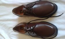 MENS BNWOB CLIFFORD JAMES BROWN LACE UP SHOES SIZE 8