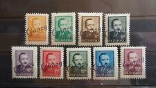 Polen 1948 / Kat. Fischer Nr. 470 - 478 mit Aufdruck Groszy