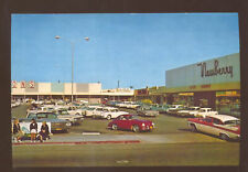 VENTURA CALIFORNIA SHOPPING CENTER OLD CARS POSTCARD COPY 1956 PORSCHE