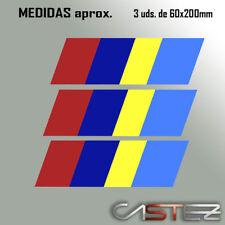 3 x vinilo adhesivo pegatina sticker rejilla peugeot talbot franja racing rally