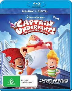 Captain Underpants: The First Epic Movie (Blu-ray, 2017)