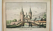 """Dutch Sea-Port- Oost Port Delft - Book print - excerpt/from old book -8"""" FRAMED"""