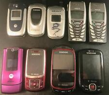 OLD CELL PHONE LOT OF 9 SAMSUNG NOKIA MOTOROLA