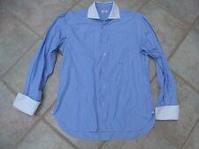 Barba Napoli Hemd Herrenhemd Gr. 43 17 blau weiß gestreift edelmarke Top Angebot