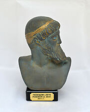 Zeus or Poseidon Ancient Greek God sculpture statue bust artifact green