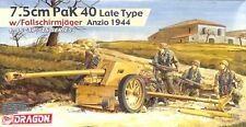 Dragon 1:35 7.5cm PaK 40 Late Type w/ Fallschirmjager Anzio 1944 Kit #6250