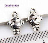 30Pcs Zinc Alloy Jewelry Craft Horse pendants 1A1636