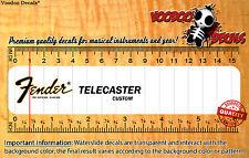 Fender Telecaster Custom Restauración Calcomanías Tobogán