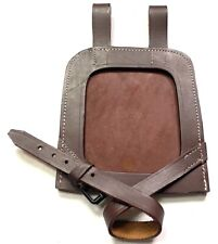 WWII GERMAN M31 FLAT SHOVEL CLOSED COVER-BROWN LEATHER