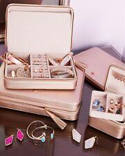 Kendra Scott Medium Travel Jewelry Case In Rose Gold NEW