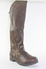 098a38e474b Knee-high Riding Boots Distressed Brown Easy Street Sytle Walking Women s  Shoes