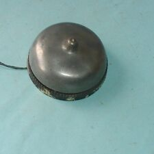 Early 1900's wall Mount Nickel over Brass Metal Bell