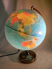 Lighted Replogle Globe/Scanglobe World Horizon/Compass/Early 1980's/30 cm