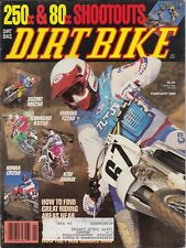 DIRT BIKE - February 1989 - 80cc & 250cc Shootouts / How to Find Great Riding Ar