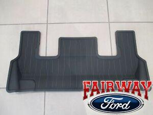 20 thru 21 Explorer OEM Genuine Ford Black 3rd Row Floor Mat with Console