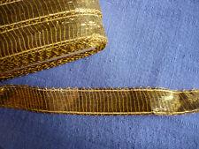 PASSEMENTERIE ANCIENNE :  ruban OR 20 mm - vendu par 2 mètres