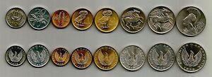 Greece 1973 B Complete set Athenian owl, Pegasus, Goddess Athena ,Phoenix UNC BU