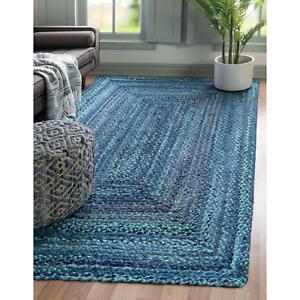 Rug 100% Cotton Braided style Handmade Runner Rug Living Modern Area Carpet Rug