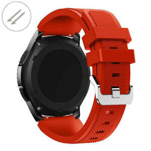 Red Rubber Silicone Replacement Watch Band Strap Quick Release Pins #1045