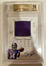 2015 NATIONAL TREASURES STEFON DIGGS AUTO /99 BGS 10 AUTO RC COLOSSAL VIKINGS