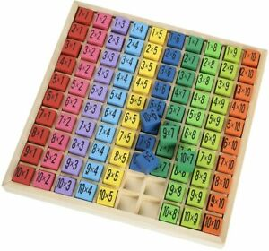 Montessori  Math Multiplication Games Times Table Wooden Learning Toys