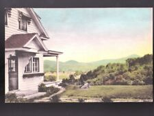 WILLISTON VERMONT VT 1940 Camels Hump Twist O' Hill Lodge Hand Colored Postcard