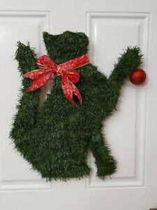 Handmade Cat Christmas Wreath Kitty X-mas