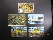 Vintage Lot of 5 Los Angeles California Postcards Hello From