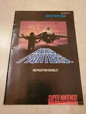 Aero FIGHTERS INSTRUCTIONS MANUAL BOOKLET ONLY Super Nintendo SNES AUTHENTIC USA