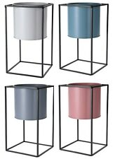 Raised Indoor Plant Pot On a Stand. Metal Flower Pot 30cm Tall