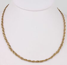 COSTUME GOLDTONE BRAIDED CHAIN NECKLACE FASHION 4957