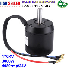 170Kv 3000W Brushless Hub Motor 4080rmp/24V For Electric Scooter Waterproof