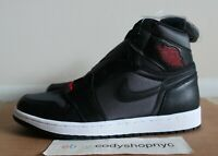 DS Nike Air Jordan 1 Retro High OG Black Satin Gym Red size 10 Mens i 555088-060