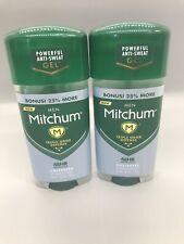 2 Mitchum Men Triple Odor Defense Unscented Antiperspirant Deodorant Gel 2.85oz