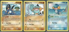 SWAMPERT MARSHTOMP MUDKIP -3 Evolution Ex CRYSTAL GUARDIANS Pokemon- NEW MINT