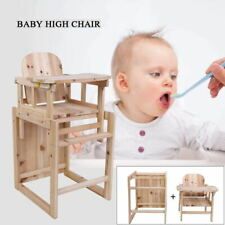 Baby Kinderhochstuhl Fütterungsstuhl /& Tischset Abnehmbarer Hochstuhl Holz Kind