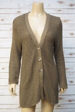 J. Jill Womens Large Cardigan Sweater Cotton Wool Long Sleeve Khaki Green