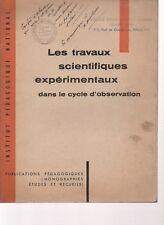 LES TRAVAUX SCIENTIQUES EXPERIMENTAUX dans le cycle d'observation, PUB. PEDAGOG