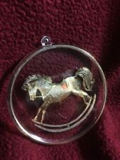 HALLMARK 1984 OLD FASHIONED ROCKING HORSE ETCHED BRASS ORNAMENT