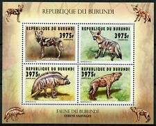 More details for burundi 2014 mnh fauna wild dogs hyenas 4v m/s wild animals stamps