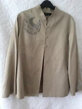 NITYA Elegant Silk Mix Summer Jacket -Kimono Style with Embroidery E42 UK14