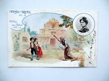 Autografo Elisa Bruno Cartolina Teatro Alla Scala Hansel e Gretel la Strega 1902