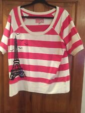 Next top with sequinned Eiffel Tower (Paris) - worn once - size UK18