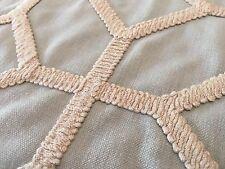 Fabricut Geometric Embroidery Upholstery Fabric Infatuation Aqua 4.75 yd 5478101