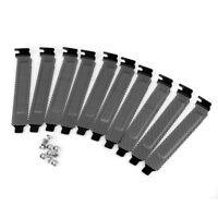 10 Stück Hartstahl Staubfilter Blindplatte PCI Slot Cover mit Schrauben